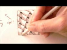 How to draw tanglepattern Planateen - YouTube