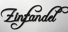 Amazon.com: Zinfandel Wine Word Home Decor Metal Wall Art Black: Home & Kitchen