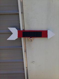 Chalk board arrow