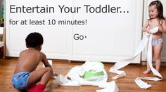How much stuff can you get done while your toddler is entertained?