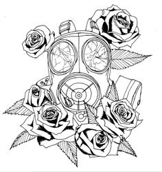I want a gas mask tattoo wit dead flowers to signify how toxic the world is