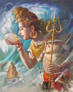 Arte Shiva, Shiva Tandav, Shiva Parvati Images, Shiva Art, Krishna Art, Hindu Art, Hare Krishna, Photos Of Lord Shiva, Lord Shiva Hd Images
