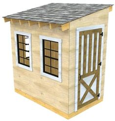 From setting the foundation to installing the roof this backyard shed guide will aid you in building your own garden storage solution. Backyard Storage, Storage Shed Plans, Backyard Sheds, Outdoor Sheds, Outdoor Storage, Outdoor Gardens, Wood Shed Plans, Shed Building Plans, Diy Shed Plans