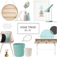 Home Trend - 2015 by rachaelselina 2015 Trends, Home Trends, Concept Board, Interior Decorating, Interior Design, Kelly Wearstler, Color Trends, Decoration, Sweet Home
