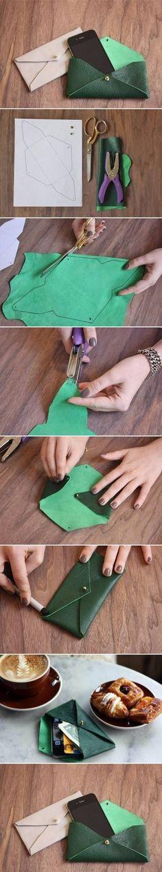 DIY Leather Envelope Case by gferland