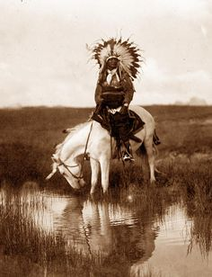 "Cheyenne Indian Chief, ""Valley of Rosebud"" 1905~beautiful people <3"