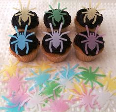 24 Edible Spider Spiderman Halloween Spooky Party Cupcake Topper Cake Decoration