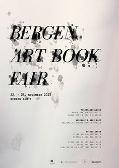 Bergen Art Book Fair on Behance