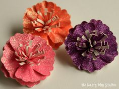 Glitter Paper Flowers Tutorial
