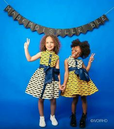 Fin d'année Baby African Clothes, African Dresses For Kids, African Children, Stylish Kids Fashion, Big Girl Fashion, Princess Fashion, African Print Fashion, African Fashion Dresses, African Attire
