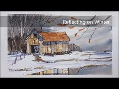 A Pen and Wash demonstration of a Barn in Winter. Easy to follow and learn. With Peter Sheeler. - YouTube