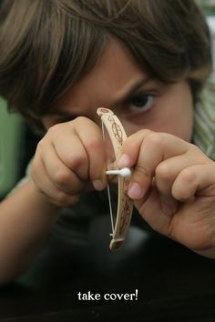 YES!  They will love this. :D  How To Make A Tiny Bow And Arrow  -kc
