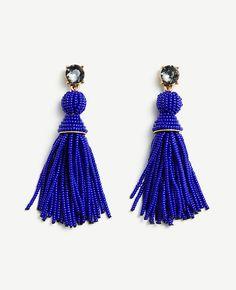 ANN TAYLOR Seed Bead Tassel Earrings. #anntaylor #earrings