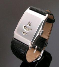 A very rare silver Jump Hour wristwatch, 1932
