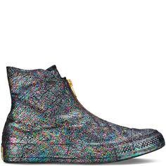 fe3500d4a502 Chuck Taylor All Star Iridescent Shroud - Converse US Black Leather  Trainers