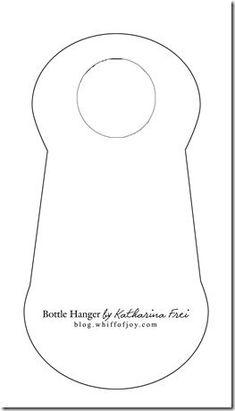View Design: bottle label tag-pocket | LIQUOR BOTTLE NECK HANGER ...