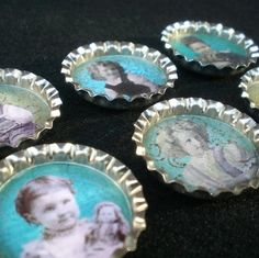 Upcycled Bottle Cap Magnets