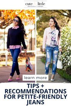 Short Girl Fashion, Fashion For Petite Women, Petite Fashion Tips, Petite Outfits, Style Fashion, Curvy Fashion, Best Jeans For Women, Crop Jeans, Skinny Jeans
