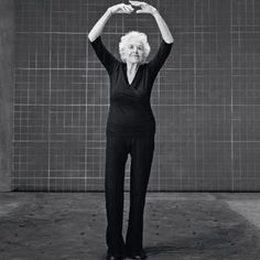 """Esther Tuttle, age 99  How to be confident: Treasure your health every day.  """"Your body is your instrument, and you have to take beautiful care of it. I do one hour of yoga and walk for 30 minutes every day. You really enjoy life a lot more if you're healthy. And I never leave home without putting on lipstickit makes me feel pretty!"""" iceprincess01"""