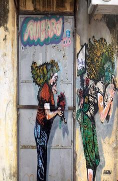 Georgetown is the capital city of the Malaysian state Penang. It is located at the tip of Penang Island and famous for the Georgetown street art. Georgetown Malaysia, Penang Island, Street Art, Explore, Painting, Painting Art, Paintings, Drawings
