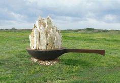 Tanya Preminger.   'Saucepan'.   Stone,iron