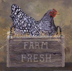 Metal Magnet Black White Maran Hen Roosting Chicken Farm Fresh Magnet X Hen Chicken, Chicken Art, Fresh Chicken, Chicken Eggs, Arte Do Galo, Hen Farm, Chicken Painting, Rooster Art, Chickens And Roosters