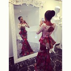 Say hello to the styletemple selfie mirror extraordinaire. African Attire, African Wear, African Women, African Style, African Print Dresses, African Fashion Dresses, African Prints, Afro Chic, Sweet 16 Outfits