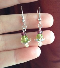 Scottish Thistle Dangle Earrings by JamesBrownCreations on Etsy