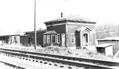 This photo of the train depot at Seven Mile Ford was made in the early 20th century. VA