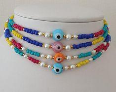 Handmade Fashion Jewelry by kayojewelryco on Etsy #evileyes #evileyeschoker #choker #etsy #kayojewelryco