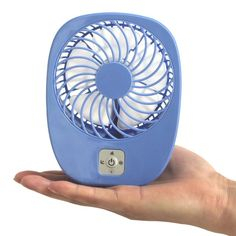 A portable, rechargeable fan that you can keep in your purse, on your desk, or pretty much anywhere you go.