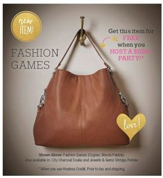 Coming out in August 2015! I am so excited, I can't wait to get mine! Fashion Games by Thirty-One Gifts