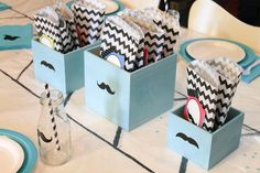A Mustache Birthday Party Theme.  Lots of very cute ideas!