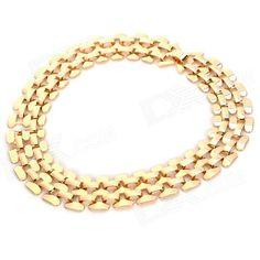 NC-7351 Zinc Alloy Hollow Out Necklace for Women - Golden