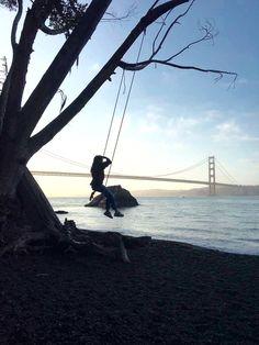 Beach & swing, san francisco
