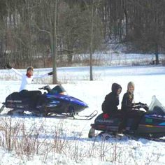 Snowmobiling with my family.