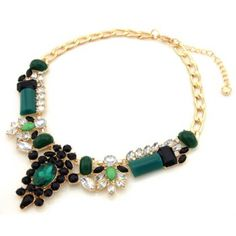 Trendy Gorgeous Green Gemstone Necklace For Women, AS THE PICTURE in Necklaces | DressLily.com