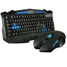 2.4Ghz Wireless Mouse and Keyboard Combo Game For Desktop pc Laptop,High Sensitivity Wireless Gaming Mouse and Keyboard Set