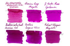 Think pink with your fountain pen! Try the Ink Sample Package - Pinks, Magenta. It has six of Goulet Pens best selling inks. Pin for later.