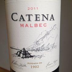 2011 Catena Malbec Bodega Catena Zapata Mendoza, Argentinien  Großartige Frucht, Intensität und Tiefe in einem harmonischen und eleganten Wein!  #wein #weinerleben
