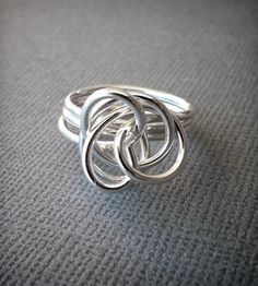 Silver Twist Ring - 16 gauge