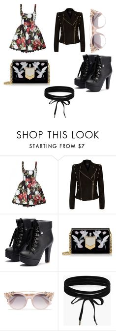"""""""Untitled #255"""" by alexandriamcbride on Polyvore featuring Balmain, Jimmy Choo and Boohoo"""