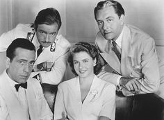 """Casablanca"" Humphrey Bogart, Claude Rains, Paul Henreid and Ingrid Bergman 1942 Warner"