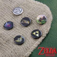 Badges Zelda - Lot de 6: Kas Design, Distributeur de Produits Originaux