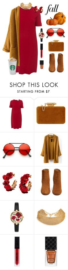 """Fall Festivities"" by lenachkka ❤ liked on Polyvore featuring 'S MaxMara, Sophie Hulme, Aquazzura, Kate Spade, Serefina and Gucci"