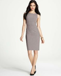 Ann Taylor - AT New Arrivals - All-Season Stretch Seamed Sheath Dress
