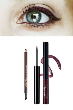Trendy Hair Color Burgundy Brown Eyeliner Ideas - Hairstyles For All Perfect Eyeliner, Best Eyeliner, Eyeliner Ideas, Brown Eyeliner, Pencil Eyeliner, Eyeliner Perfecto, Pelo Color Borgoña, Marie Claire, Eyeliner Shapes