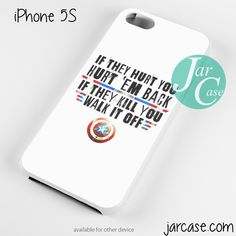 Captain America's Quote Phone case for iPhone 4/4s/5/5c/5s/6/6 plus