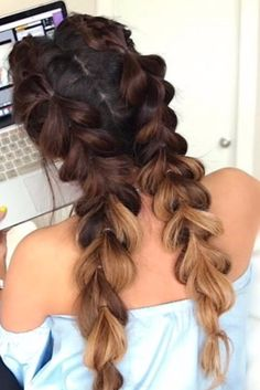 You'll Prefer This Version of a Dutch Plait When You See the Finished Result A post shared by MakeupWearables Hairstyles ( on Jun 2016 at PDT Can't get to grips with Dutch plaits (or as they are otherwise French Plait Hairstyles, Ballet Hairstyles, Braided Bun Hairstyles, Ahort Hairstyles, Wedding Hairstyles, Braided Buns, Simple Hairstyles, Messy Buns, Updo Hairstyle