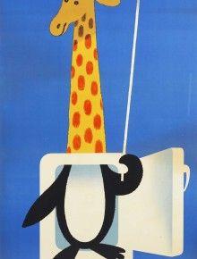 refrigerateur brandt herve morvan giraffe penguin umbrella vasselais paris